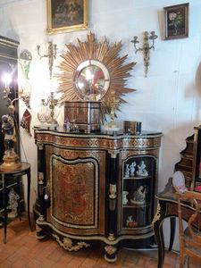 Art & Antiques - meuble d'appui boulle écaille toutes faces avec c - Mobiletto D'appoggio