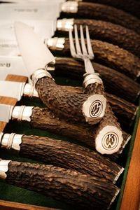 Astas Patagonicas - juego de cuchillos y tenedores con plata - Accessori Barbecue