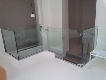 TRESCALINI - minimal : garde-corps verre (et inox) - Parapetto