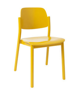 MARCEL BY - chaise april en hêtre jaune or 49x50x78cm - Sedia