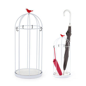Balvi - porte-parapluies birdcage en métal 23,5x57cm - Portaombrelli
