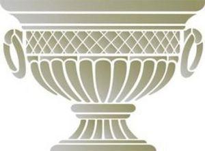The Stencil Store Pochoir - portland urn - Stampino