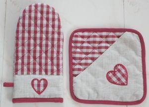 ITI  - Indian Textile Innovation - heart emb - Guanto Da Forno