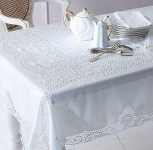 Cologne & Cotton - embroidered venise lace - Tovaglia Rettangolare