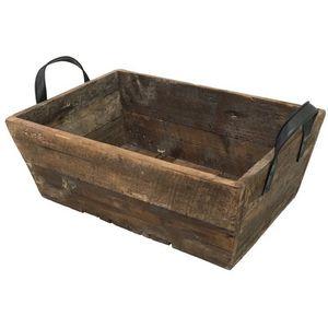 CHEMIN DE CAMPAGNE - casier panier caisse en bois 49x27x20 cm -