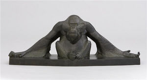 Galerie P. Dumonteil - orang-outang les bras étendus - Scultura Animali