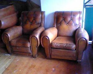 Fauteuil Club.com - paire de gros fauteuils - Poltrona Club