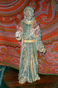 Antiquité Le Berre - sculpture polychrome - Scultura