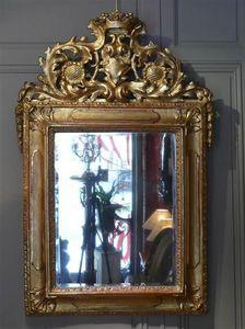 ACANTHE - miroir en bois doré. epoque xvii/xviiième siècle. - Specchio