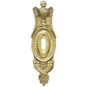 FERRURES ET PATINES - entree de meuble en laiton repousse style louis xv - Bocchetta Per Serratura Mobile