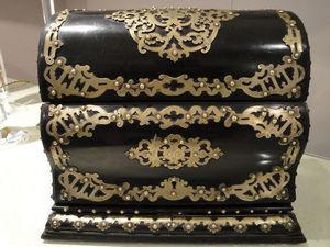 Art & Antiques - cave à cigares à escalier noire et bronze xixe - Cofanetto Per Sigari