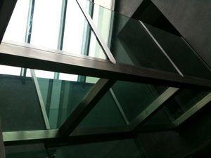 TRESCALINI - passerelle en verre et inox - Passerella