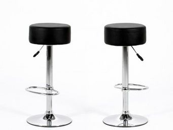 123 design - - tabouret de bar design dumpling noir - noir - Sgabello Da Bar