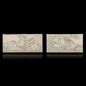 Expertissim - d'après clodion. deux bas-reliefs - Bassorilievo