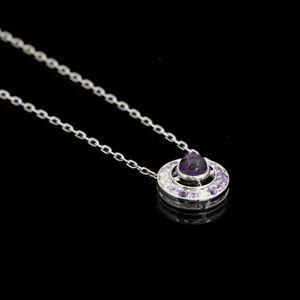 Expertissim - boucheron. collier ava améthystes, diamants et sap - Ciondolo