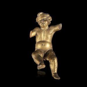 Expertissim - putto en bois sculpté et doré du xviiie siècle - Angioletto
