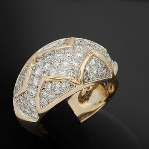 Expertissim - bague boule or et diamants - Anello