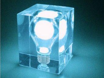 Manta Design - glow brick bleue - Lampada Senza Fili