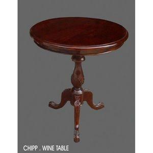 DECO PRIVE - gueridon en bois d acajou - Tavolino Rotondo