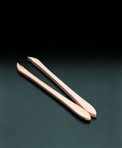 WHITE LABEL - pince à condiments en bois de hêtre - Forchettina Per Cetriolini