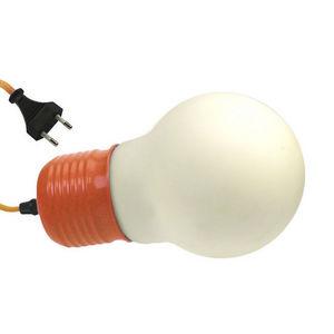 WHITE LABEL - lampe à poser forme grosse ampoule avec douille et - Oggetto Luminoso