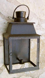 Lanternes d'autrefois  Vintage lanterns - applique luminaire murale langeais en fer forgé 30 - Applique Per Esterno
