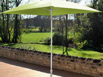 PROLOISIRS - parasol inclinable fibre de verre anis - Ombrellone