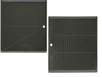INVICTA - plaque cuisson plancha reversible en fonte 32x48x2 - Accessori Barbecue