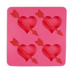La Chaise Longue - moule à glaçons coeurs flèche rose - Secchiello Ghiaccio