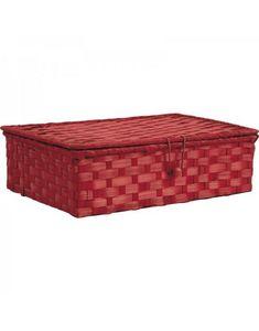 Aubry-Gaspard - coffret en bambou teinté rouge - Scatola Sistematutto