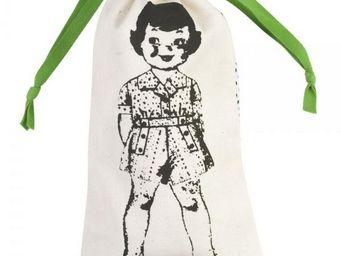 La Chaise Longue - pochette à linge paper dolls vert - Sacco Per Biancheria