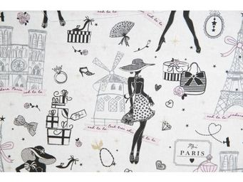 Le Quartier des Tissus - tissu imprime la petite robe de paris - Tessuto Stampato