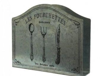L'HERITIER DU TEMPS - porte serviettes de table en zinc - Portatovaglioli Di Carta