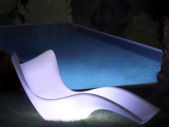 VONDOM - transat design vondom surf, lumineux - Lettino Prendisole