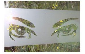 J'HABILLE VOS FENETRES - eyes - Pellicola Adesiva Coprente