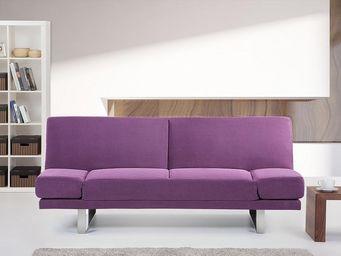 BELIANI - york violet - Divano Letto Clic Clac (apertura A Libro)