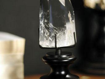 Objet de Curiosite - prisme transparent sur mini socle - Varie Giardino