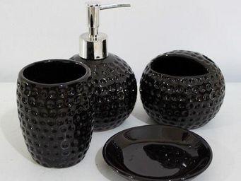 UsiRama.com - coffret salle de bain 4 accessoires cazo - Set Accessori Per Bagno