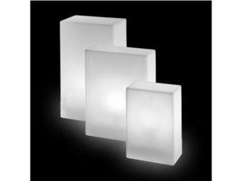TossB - assise lumineuse base intérieure / extérieure - Colonna Luminosa