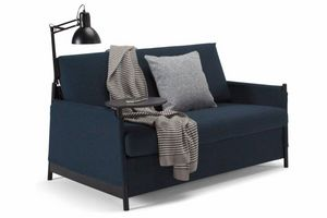 INNOVATION - canapé design neat gris bleu convertible lit 135*2 - Divano Letto