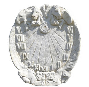 DECO GRANIT - cadran solaire en pierre blanche reconstituée 65x4 - Meridiana