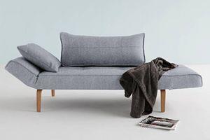 WHITE LABEL - innovation living canape lit design zeal bow gris  - Divano Letto Clic Clac (apertura A Libro)
