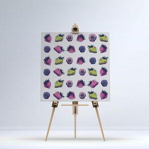 la Magie dans l'Image - toile fraises motifs - Stampa Digitale Su Tela