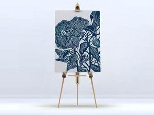 la Magie dans l'Image - toile hibiscus - Stampa Digitale Su Tela