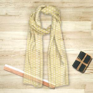 la Magie dans l'Image - foulard lotus jaune blanc - Foulard Quadrato