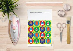 la Magie dans l'Image - papier transfert héros pattern vert - Trasferibile