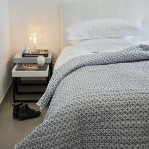 MAISON D'ETE - dessus de lit étoiles gris - blanc - Copriletto