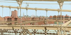 Nouvelles Images - affiche brooklyn bridge - Poster
