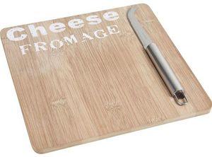 Aubry-Gaspard - plateau de fromage en bambou avec couteau - Vassoio Per Formaggi