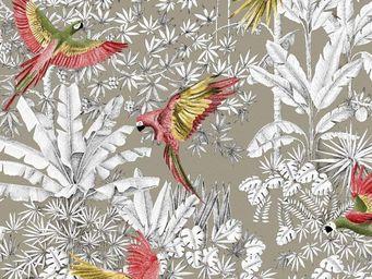 THEVENON - perroquets mania-- - Tessuto D'arredamento